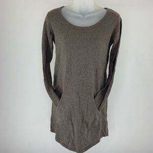Cynthia Rowley Brown Sweater Dress With Pocket